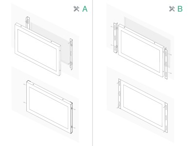 10 inch monitor metaal