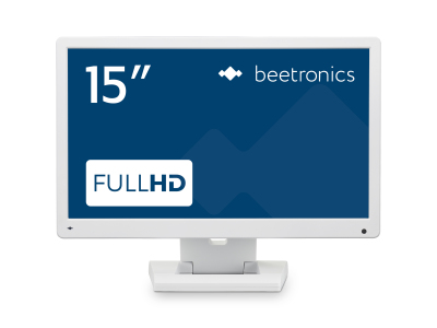 15 inch monitor (wit)